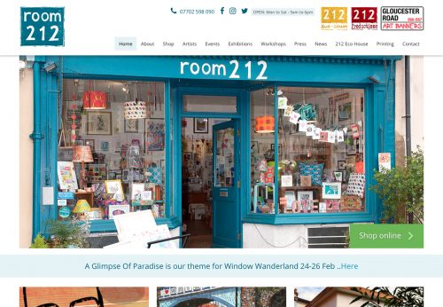 Bespoke Wordpress theme for Bristol art shop