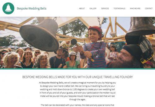 Handcoded website for new start-up