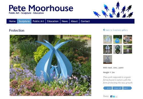 Bespoke Wordpress theme for local Bristol artist
