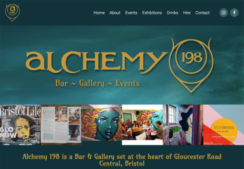 Bespoke website for Bristol bar